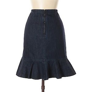 Anthropologie Skirts - Anthropologie denim skirt by  Leifsdottir size 8